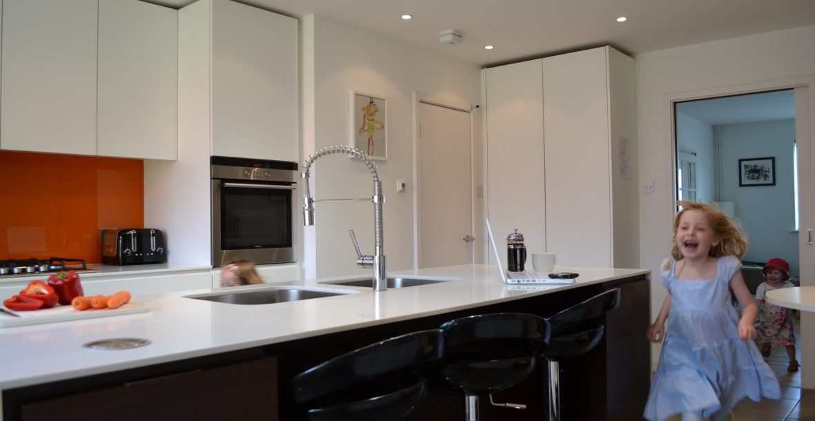 Contemporary fitted kitchen design for all the family